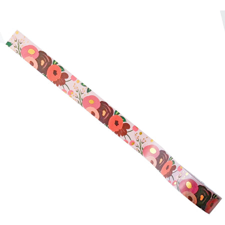 Pink, Red, and Orange Flower-Covered Decorative Washi Tape - The First Snow
