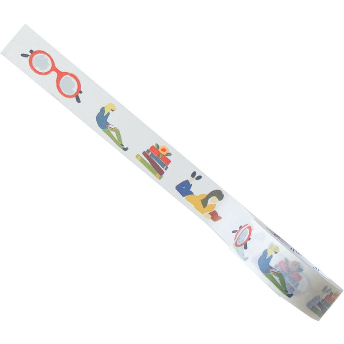 Book Lovers Washi Tape with Colorful Images of Books and Reading - The First Snow