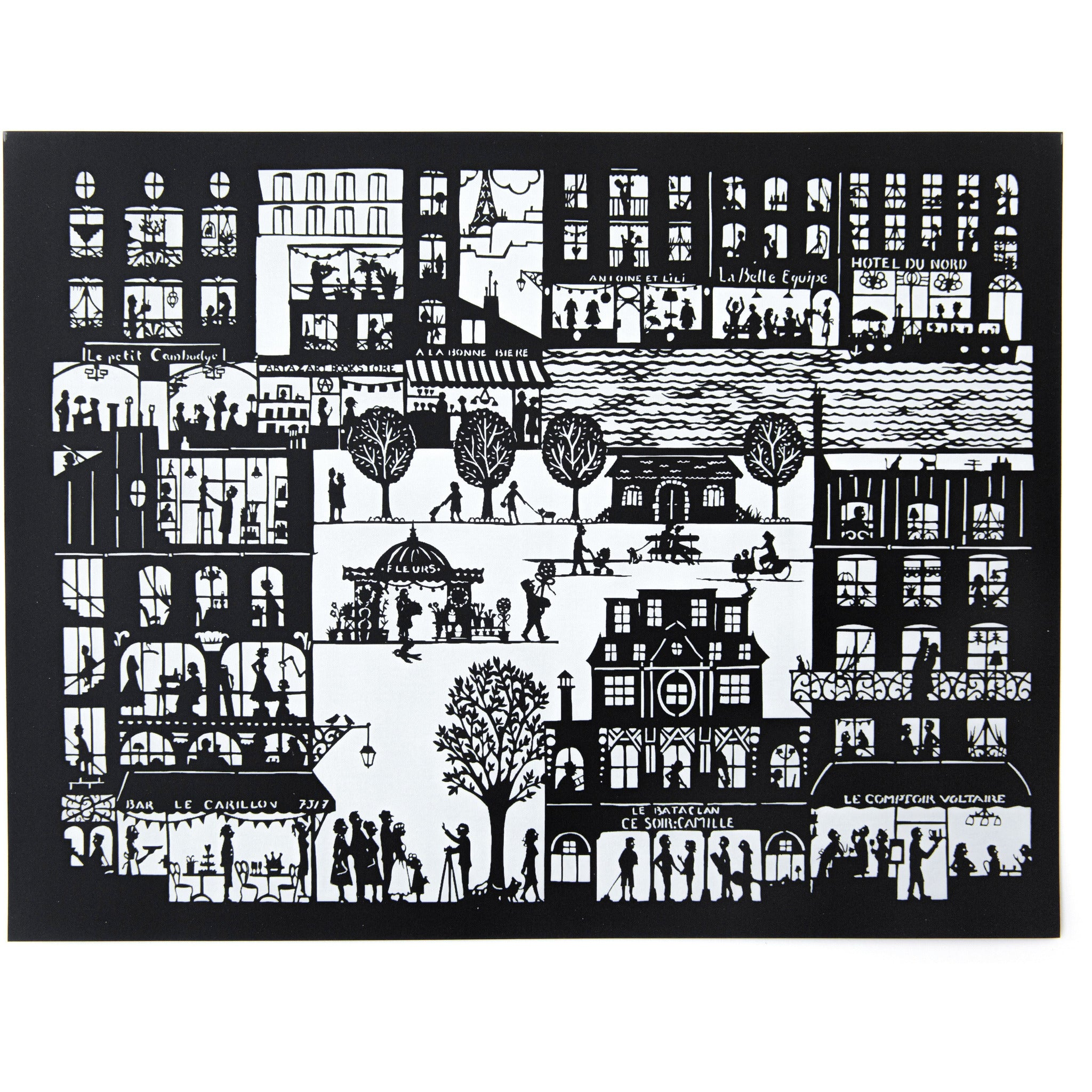 Paris 1 Art Print by Stephanie Miguet - The First Snow