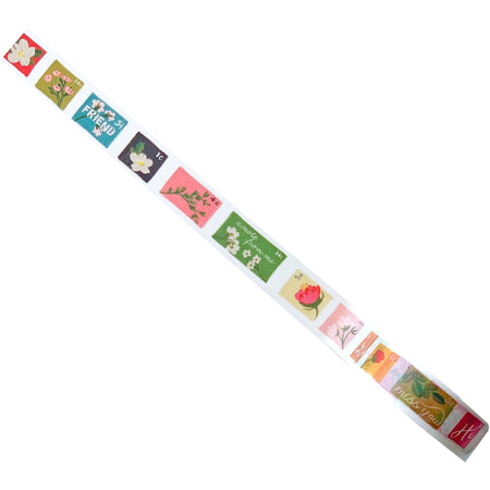 Postage Stamp-Themed Fun, Bright, and Cute Decorative Washi Tape - The First Snow