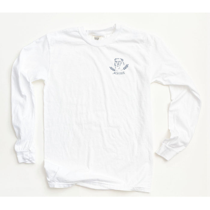 Enneagram Dog Super Soft Long Sleeve Tee in White - The First Snow