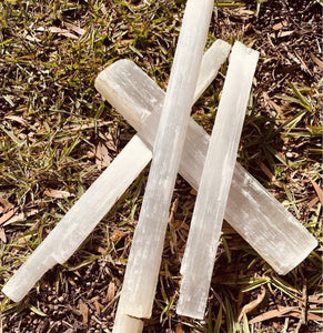 Selenite Large Wands