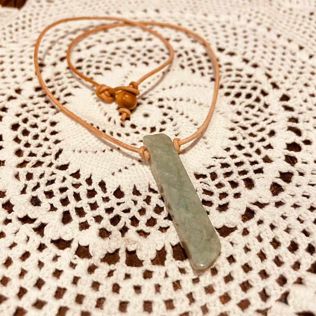 Amazonite Rough Point Handmade Necklace