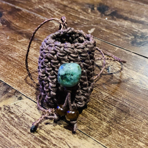 Medicine ~ Crystal ~ Pouch ~ Turquoise