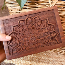 Load image into Gallery viewer, Carved Mandala Timber Box