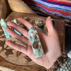 Blue calcite points chosen @ random