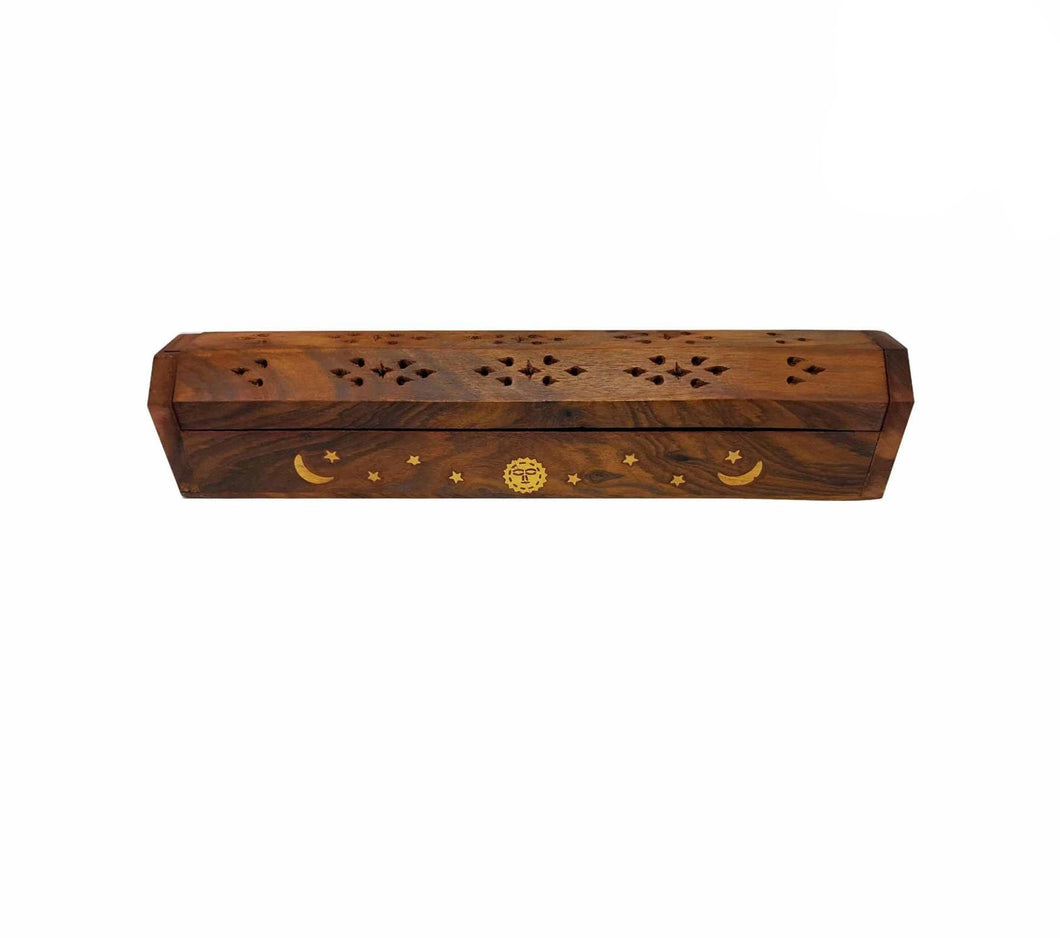 Timber Moon and Sun Box Incense Holder
