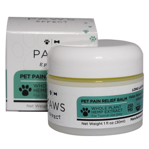 Paws Effect Nutrition 250mg CBD Topical Pain Relief Balm with Turmeric, 1oz.