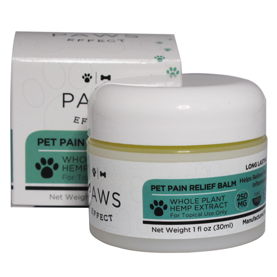 Paws Effect 250mg CBD Topical Pain Relief Balm with Turmeric, 1oz.