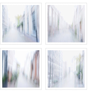 Quadriptych Down town Unique, customizable size & print . Auction ( Ouiii app)