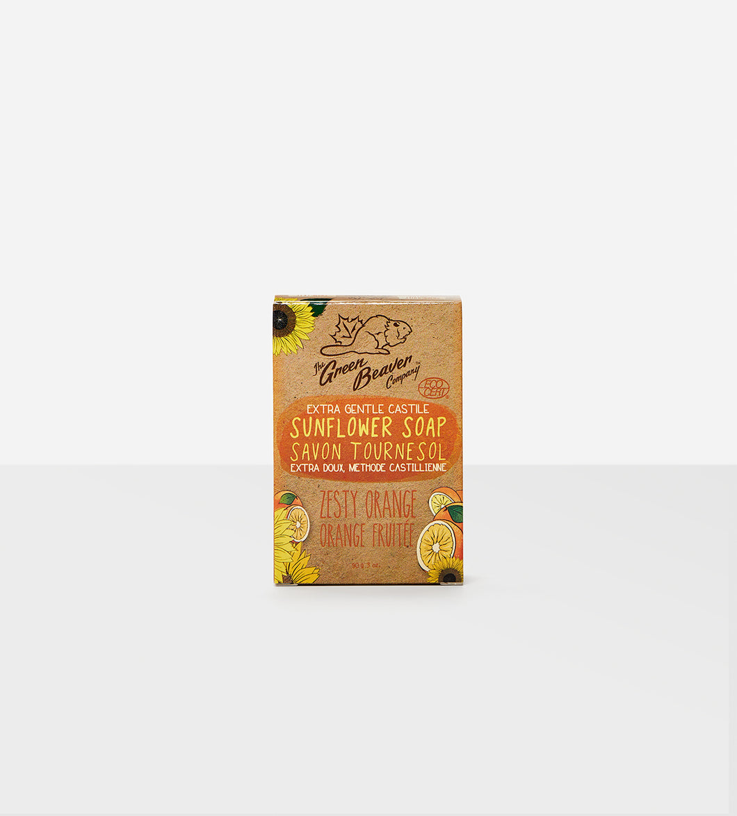 Zesty Orange Sunflower Natural Soap Bar