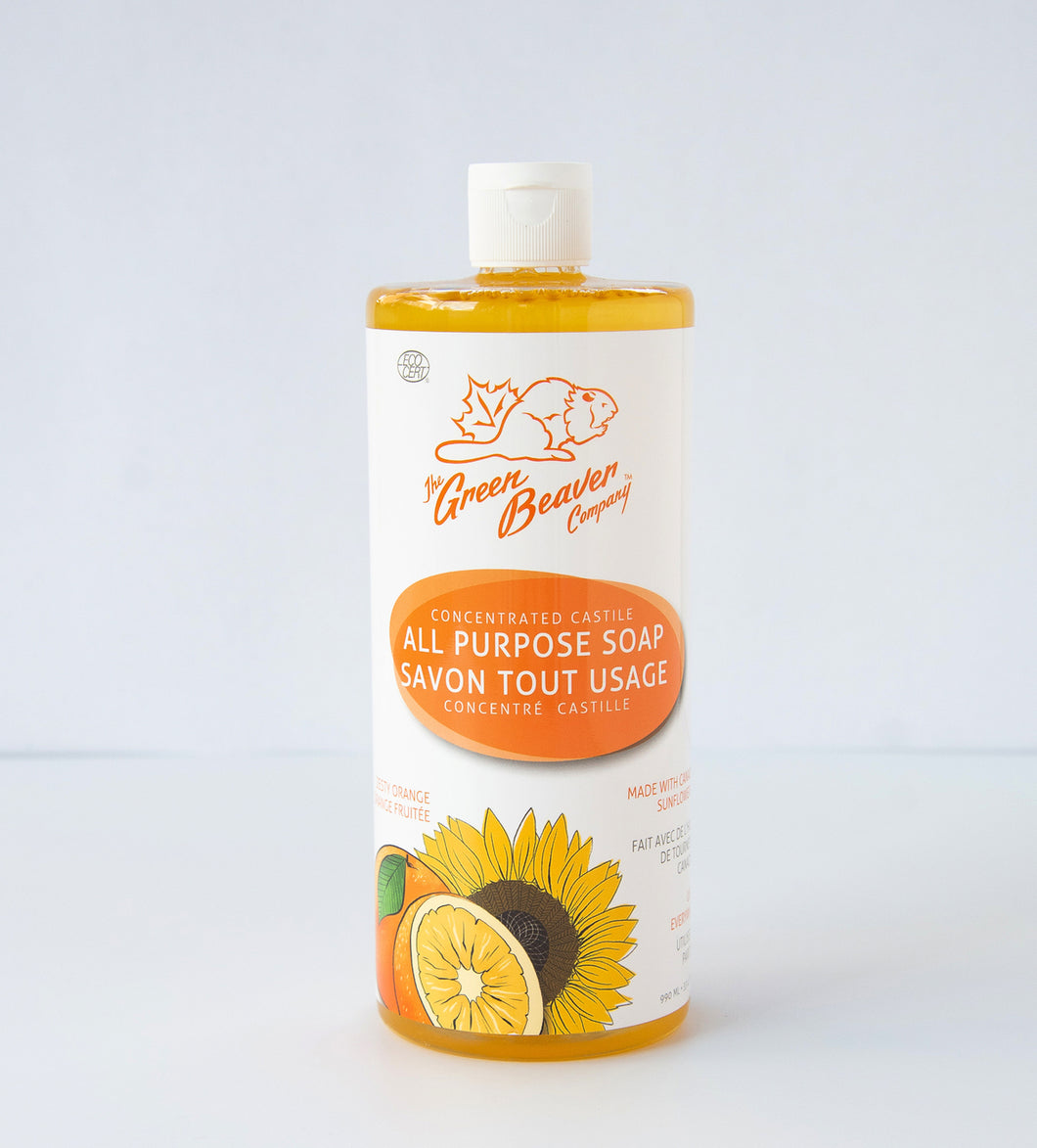 Zesty Orange Castile Liquid Soap 1L*