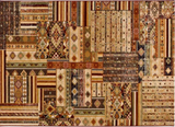PATCHWORK CLASSIC BROWNS - Rug 4 SIZES