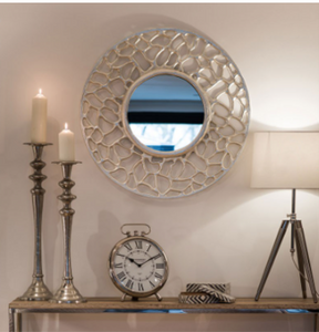 Handcrafted Silver Wall Mirror