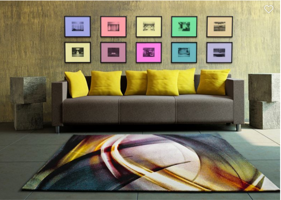 ABSTRACT ELIPSE -  Rug 5 SIZES