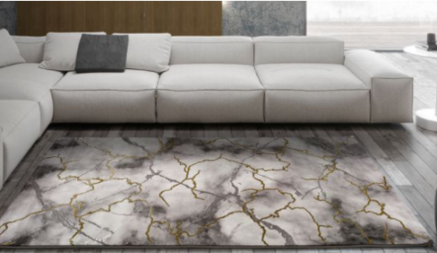 Abstract Lightning Rug