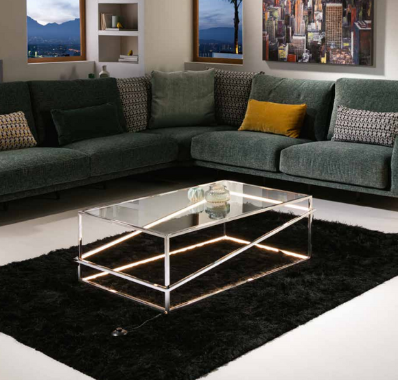 MOONLIT LED lit Coffee Table