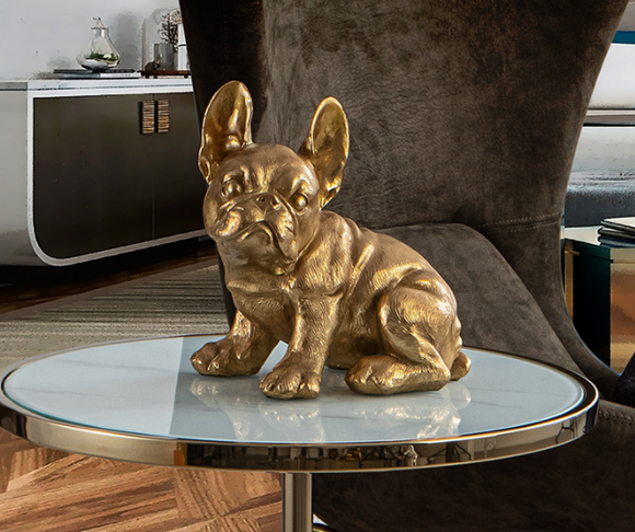 FRENCH BULL DOG (GOLD LEAF) - DECORATIVE FIGURE