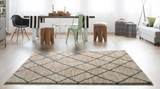 DIAMOND GEOMETRIC - RUG 3 SIZES GREY OR BEIGE