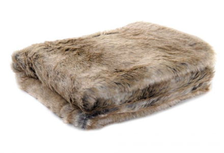 Luxury  Faux Fur Throw - Soft Beige