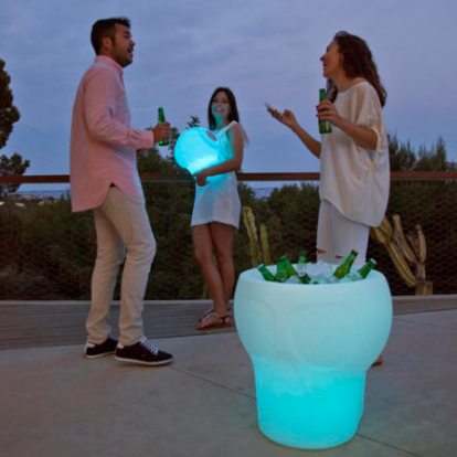 Illuminated Table /bottle chiller with face