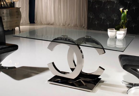CC Glamour - Glass Dining Table