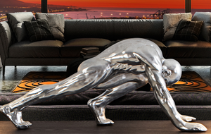 CHALLENGER - Decorative Figure (SILVER LEAF finish)