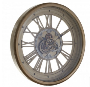 Gold Wall Clock with moving cogs