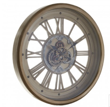 WALL CLOCK WITH MOVING COGS