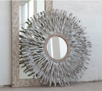 Sunburst Twig Wall Mirror