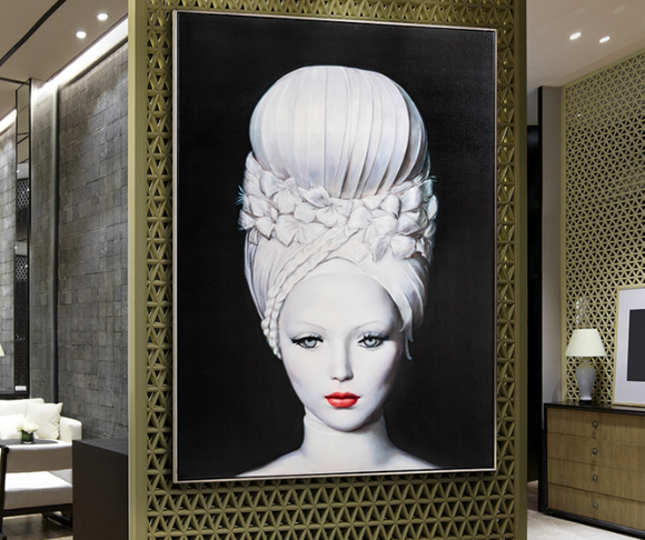 JOLIE COIFFURE 3 - Framed Printed Canvas