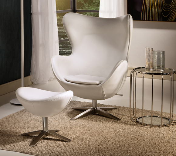 OVA - Swivel Armchair & Footstool