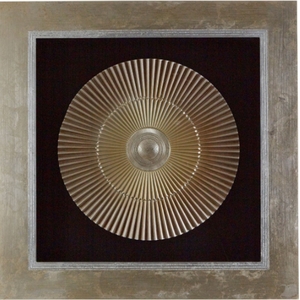 GOLD FRAMED SCULPTED FAN - Wall Art