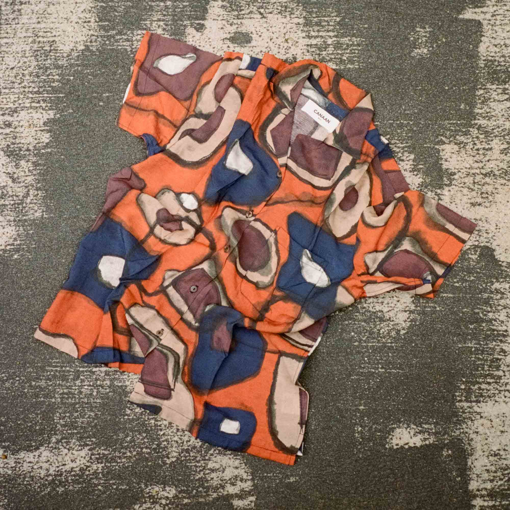 Bali Tribal Shirt Orange