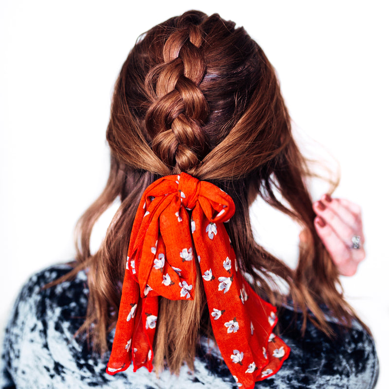 Hair Scarf - Burnt Orange