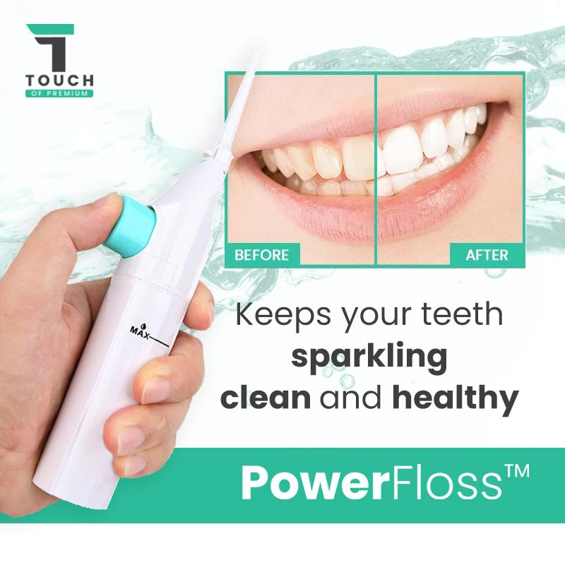 PowerFloss™ Portable Dental Water Floss Jet Cleaner