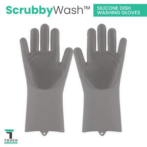 ScrubbyWash™ Silicone Dish Washing Gloves