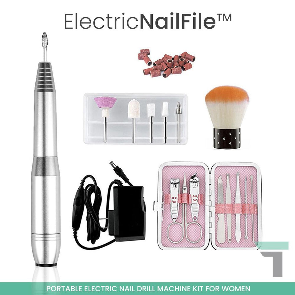 ElectricNailFile™ Portable Electric Nail Drill Machine Kit for Women