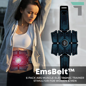 EmsBelt™ 6 Pack Abs Muscle Electronic Trainer Stimultor for Women & Men