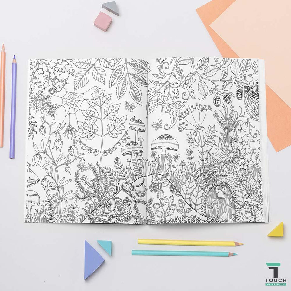 ColorBook1™ Enchanted Magic Forest Adult Coloring Activity Book