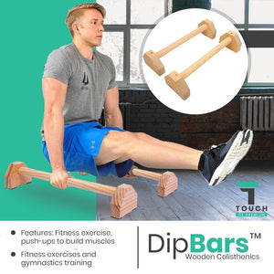 DipBars™ Parallettes Wooden Calisthenics Training Bars