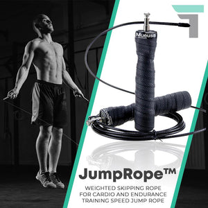 JumpRope™ Weighted Skipping Rope for Cardio and Endurance Training Speed Jump Rope
