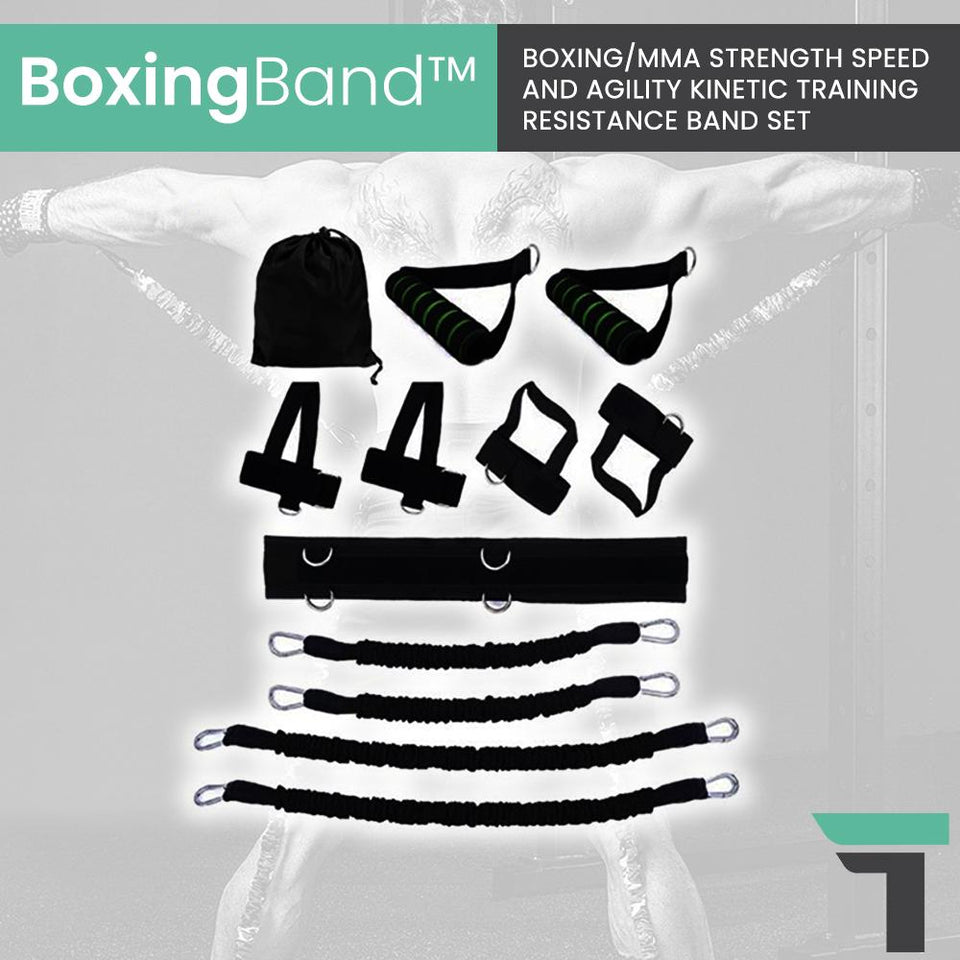 BoxingBand™ Boxing/MMA Strength Speed and Agility Kinetic Training Resistance Band Set