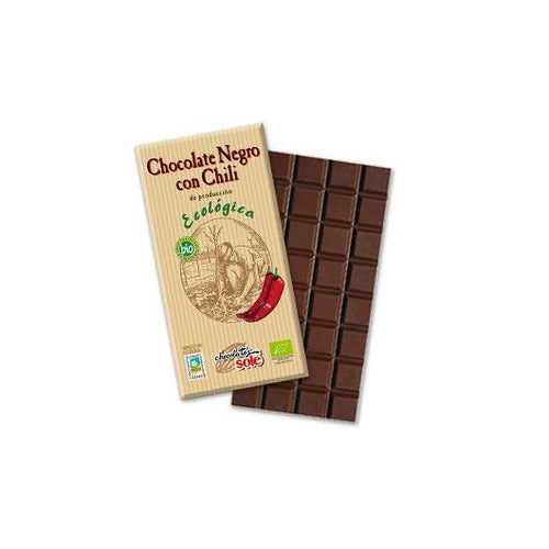 Chocolate Eco negro 73% con chili