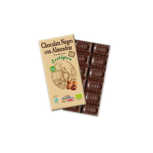 Chocolate Eco negro 73% con almendras