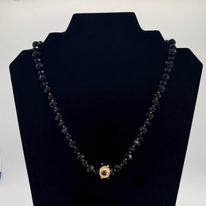 Vintage Monet Black & Gold Necklace and Earring Set
