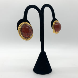 Round Vintage Clip-on Earrings