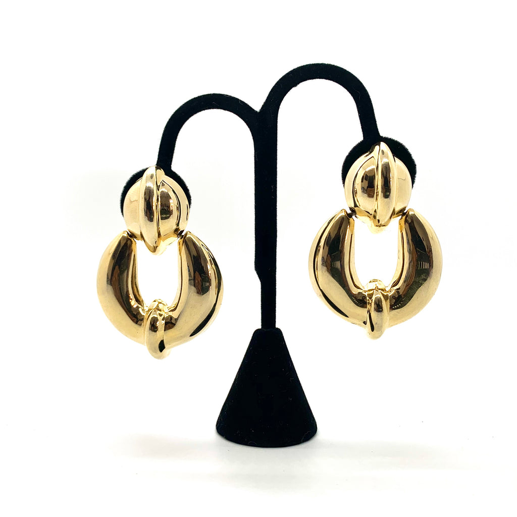 Bold & Chunky Golden Vintage Clip-on Earrings