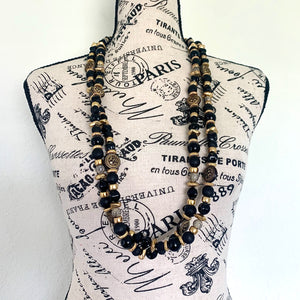 Vintage Double Strand Statement Necklace