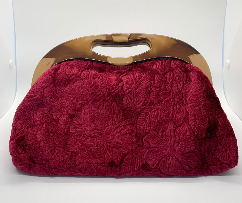 Red Velvet Small Handbag
